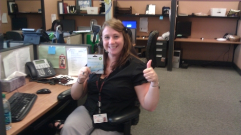 Our first gas card winner!